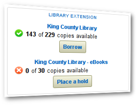 Convenient library availability as you browse the web